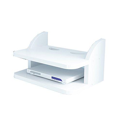 JIAYIBAO Wandregal Massivholz Wohnzimmer Wand TV Set-Top-Box Lagerregal (30 * 15,8 CM) (Farbe : - Eisen-box-board