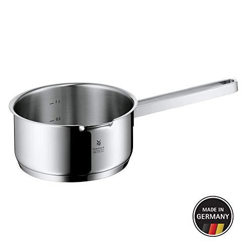 WMF Function 4 Stielkasserolle (ohne Deckel 16 cm, Kochtopf 1,4l, Cromargan Edelstahl poliert, 4 Abgießfunktionen, Innenskalierung, induktionsgeeignet) rot Wmf Pasta