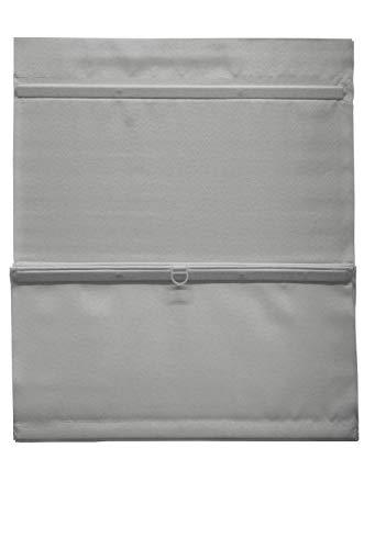 GARDINIA EASYFIX Raffrollo magnetisch inklusive Klettband, Raffgardine, Blickdicht, Alle Montage-Teile inklusive, Grau, 60 x 140 cm (BxH)