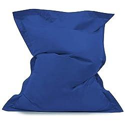 Hi-BagZ Bean Bag Bazaar - Pouf pour Usage intérieur ou extérieurRésistant à l'eau Bleu 120cm x 100cm