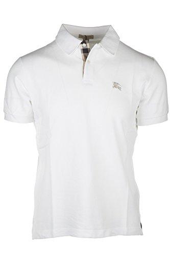 Burberry Herren T-shirts (Burberry Herren T-Shirt Polo Kurzarm Kurzarmshirt Polokragen Weiß EU L (UK 40) 3459134 1)