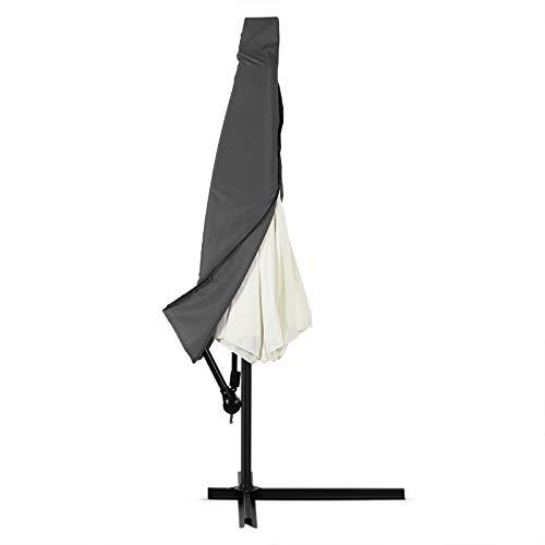 Deuba Schutzhülle Sonnenschirm für 3,5m Schirme Schirm Abdeckhaube Abdeckung Hülle Plane Ampelschirm Anthrazit