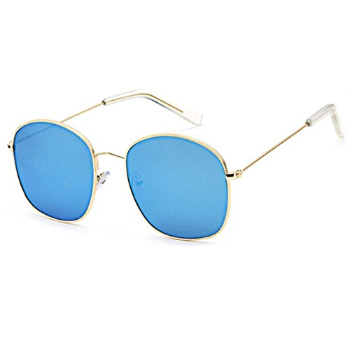 Mamum Unisex Sonnenbrille mit Metall-Rahmen, Sonnenbrille, Damen und Herren, matt Nachtsicht-Brille Einheitsgröße e