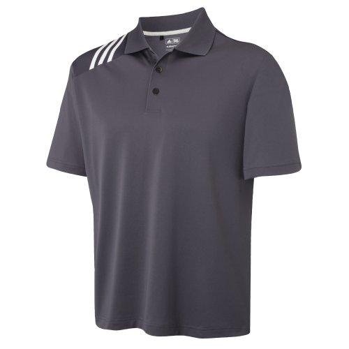 Adidas Golf Polo Shirt Climacool® mit 3 Streifen (Medium) (Grau/Weiß) (Polo Golf Climacool)