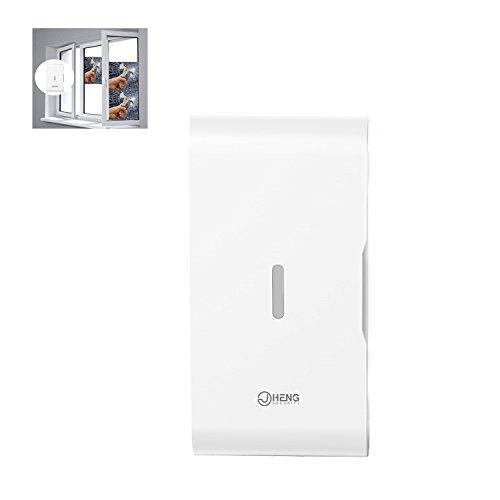 JC Fenster / Tür Vibration Glasbruch Vibrationssensor Wireless 433 MHz für für Haus und Geschäft Sicherheit Alarmanlagen (Zu Hause Wireless-sicherheit-system)