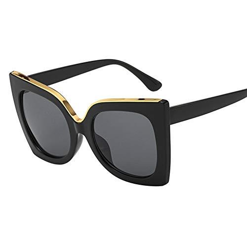 Wenkang Die Sonnenbrille der Mode-Frauen Designer Retro Cat Eye Female Big Sun Glasses Vintage Eyewear,1