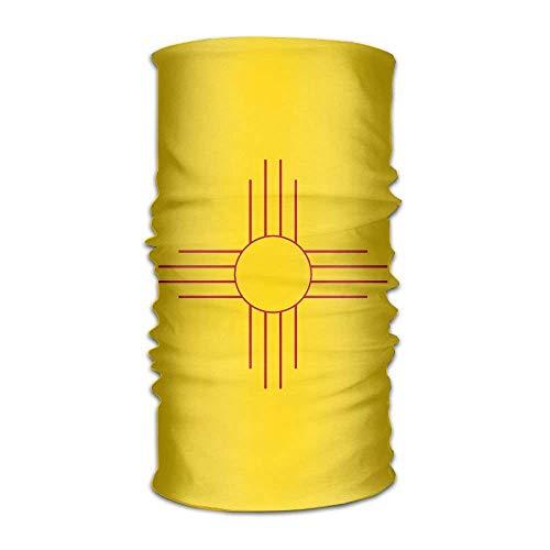 Qinckon Flag Map of New Mexico Headwear Bandanas Seamless Headscarf Outdoor Sport Headdress Running Riding Skiing Hiking Headbands