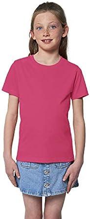 Hilltop Camiseta para Niños. Hecho con 100% Algodón Orgánico para Niños y Niñas. Ideal para Estampación (ej.: