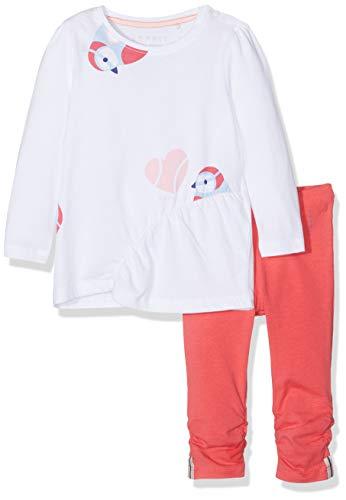 ESPRIT KIDS Baby-Mädchen RP3600107 Set T-Shirt+PAN Bekleidungsset, Rosa (Strawberry 342), (Herstellergröße: 86)