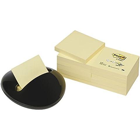 Post-It PBL-B12Y - Pack de 12 dispensadores y notas, , color negro