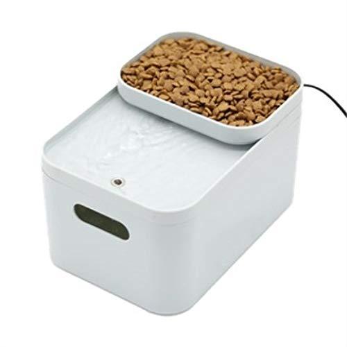 Automatischer Zyklus-Filter-Wasser-Brunnen Für Katzen- / Welpen-einziehendes Wasser-Doppelt-Gebrauch Elektrisches Wasserspender-Haustier 2L,Beige (Pet Brunnen Fließendem Wasser)