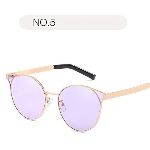 Yiph-Sunglass Sonnenbrillen Mode Sonnenbrillen für Frauen Sicherheit UV-Schutz Retro Brillen klare Sonnenbrillen (Farbe : NO.5, Größe : Free Size)