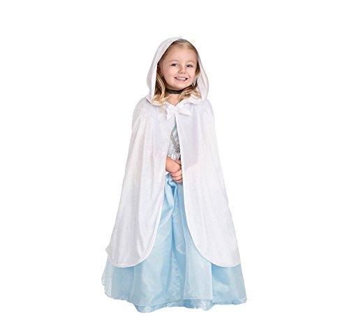 Little Abenteuer Traditioneller weißer Umhang Mädchen Kostüm-S/M (1-5Jahre)