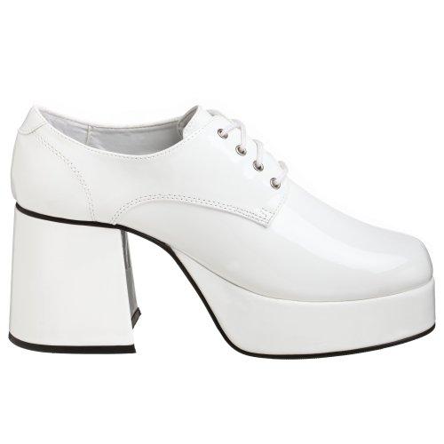 Pleaser Jazz-02, Herren Oxford Schnürhalbschuhe Weiß (White)