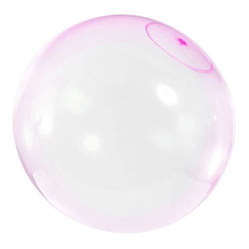 JK Aufblasbarer Bubble Ball mit Wasser gefüllte Strandbälle aus weichem Gummi für Erwachsene und Kinder im Freien, TPR, Rose, 30,5 cm