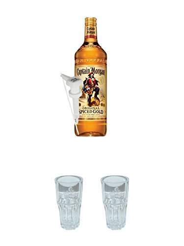 d Gold Jamaika 3,0 Liter + Dosierpumpe für 3,0 Liter + Captain Morgan Captain & Cola Glas + Captain Morgan Captain & Cola Glas ()
