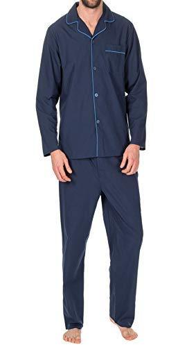 hommes Uni Coton Polyester Pyjama ensemble traditionnel classique cou