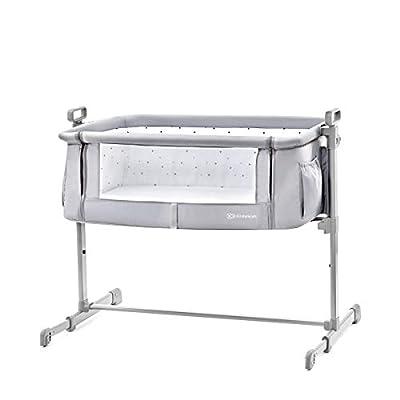 Kinderkraft Neste 2en1 Cuna de colecho con colchón Cuna gris