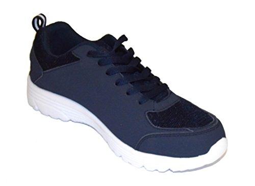 tmy 6207–13Chaussures de sport pour femme et homme, couleur bleu foncé, Taille: 36–46 Multicolore - Bleu marine