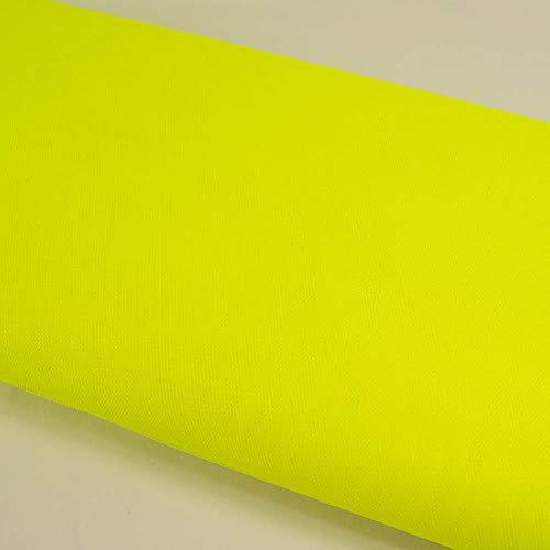 Stoffe Werning Tüll Uni einfarbig Neongelb Meterware zum Nähen von Karnevalskostümen und Accessoires - Preis Gilt für 0,5 Meter