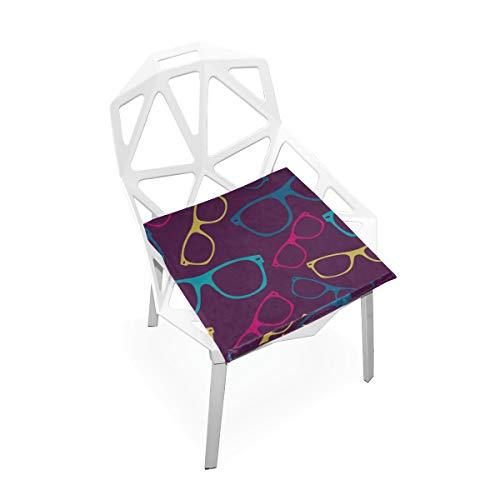 Enhusk Coole Mode Sonnenbrillen Benutzerdefinierte Weiche Rutschfeste Quadratische Memory Foam Chair Pads Kissen Sitz Für Home Kitchen Esszimmer Büro Schreibtisch Möbel Innen 16x16 Zoll