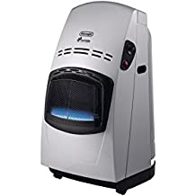 Delonghi VBF2 - Calefactor eléctrico, 4200 W, acero, negro/plata