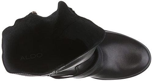 Aldo Qyvia, Stivali da Motociclista Donna Nero (Schwarz (Black Leather 97))