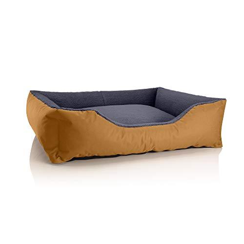 BedDog Perro/Gato Cama Teddy S à XXXL, 14 Colores a Elegir, de Cordura y Microfibra, Cama para Perros Lavable, cojín para Perros, para Interiores y Exteriores