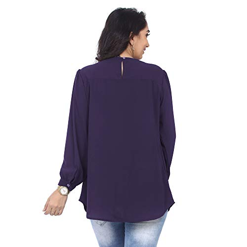 Go.4.it Women's Pleated Top (XXXX-Large, Purple)