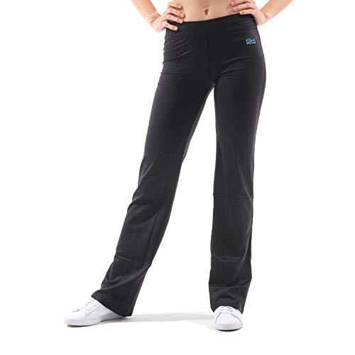 Sportkind Mädchen & Damen Sport/Fitness/Yoga Jazzpants extra lang (+3cm), schwarz, Gr. L
