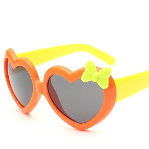 SYR Sonnenbrillen Kinder Frosch Spiegel Liebe Sonnenbrillen Mode Sonnenbrillen,Orange