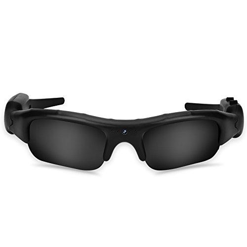 Topiky Glaskamera, Outdoor Sports 1080P HD USB aufladbare Sonnenbrille 5MP Kamera Video Camcorder für Outdoor-Aktivitäten, Radfahren, Skifahren
