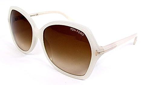 Tom Ford Für Frau 0328 Pearl Grey / Gradient Brown Kunststoffgestell Sonnenbrillen