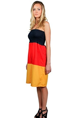 FANista Fi01 Gr. S-M Weltmeister Weltmeisterkleid Fankleid Deutschland zur EM WM Fußball für Public Viewing und Partykleid