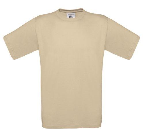 BCTU004 T-Shirt Exact 190 Herren Shirt Rundhals regular fit kurzarm Sand