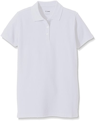 Jako polo team t-shirt unisex, donna, polo team, bianco, 36