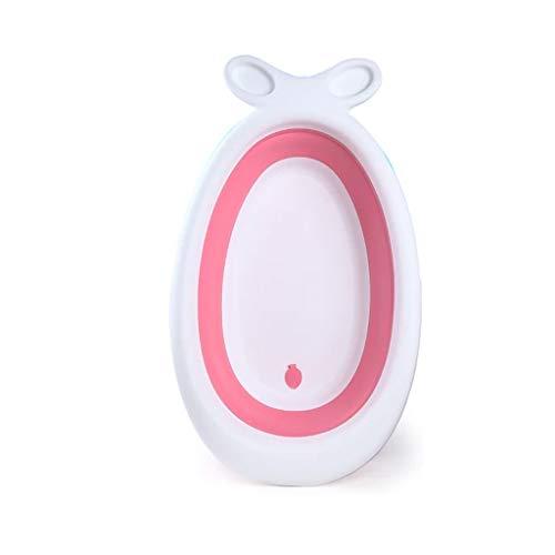 XUEPING Baby Cartoon Planschbecken, Faltende Badewanne, Warmwasserbad Ist Umweltfreundlich Und Geschmacklos Stabil Mit Halterung L95 * K55 * H21 2 Farben (Farbe : Pink)