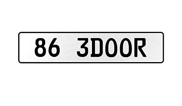 Vintage Parts 558049 86 3DOOR White Stamped Aluminum European License Plate