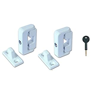 Supreme Window Lock 8K101 White x2 and Key