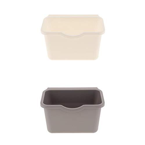Fenteer 2pcs Abfallbehälter Aufbewahrungsbehälter Küche Abfallsammler zum Hängen