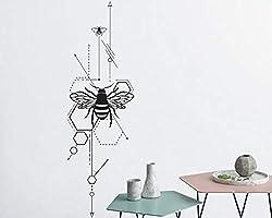 42 cm x 134 cm Neue Design Geometrische Bienen Wandtattoo Einzigartige Vinyl Wandaufkleber Schlafzimmer Wohnzimmer Aufkleber Innenwanddekor Heißer Verkauf LA999