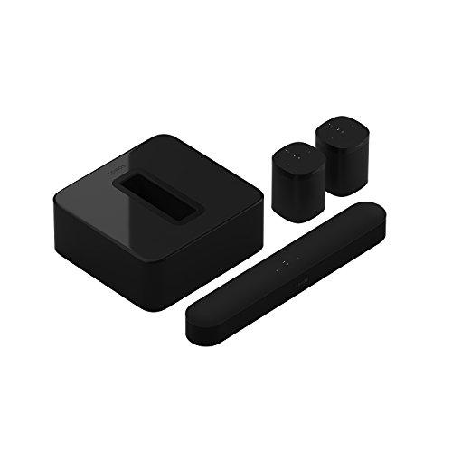 Sonos Beam WLAN Soundbar Speaker   Heimkinoset (5.1   Beam + Sub + 2X One, schwarz)