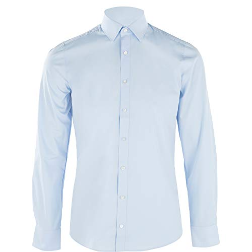 Olymp Herren Hemd Level 5 Body Fit Signature New York Kent, Größe:40, Farbe:10 hellblau