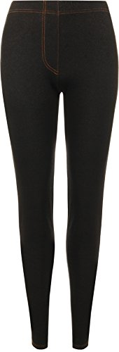 WearAll - Legging de tout son long apparence du jean - Leggings - Femmes - Noir - 46 WearAll
