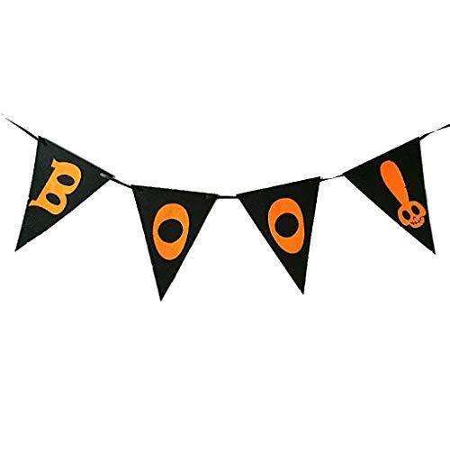 Xigeapg Boo Brief Muster Halloween Wimpel Party Club Haengende Dekoration Fenster Tuer Haus Banner Flagge Haengendes Zeichen