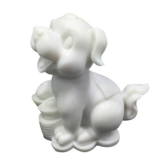 LINGS Hundestatuen Weißer Marmor Stein Wächter, Chinesisches Sternzeichen Feng Shui Dekor, Für Zuhause Und Büro Reichtum Und Viel Glück, Beste Einweihungsparty Glückwunschgeschenk - Feng Shui Marmor
