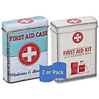 Nostalgic Pharmacy - First Aid Kit, Vorratsdose Flach preisvergleich bei billige-tabletten.eu