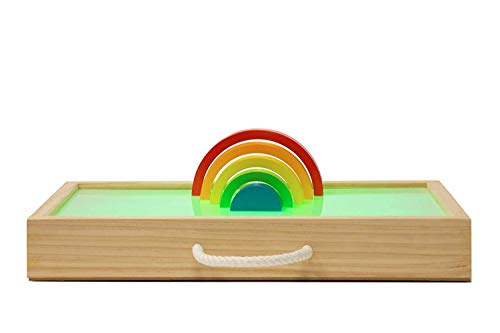 MUNDO PETIT - Mesa De Luz Montessori para Niños - Caja De Luz Montessori - El Metodo De Juguetes Montessori para Todos - Desde El Primer Año - Fabricado en España