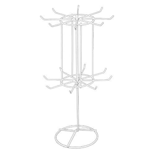 Gosear 2 strati ferro da stiro rotante orecchini collana gioielli visualizzazione stand titolare organizzatore
