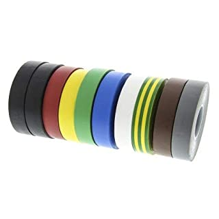 Advance Tapes AT7 Assorted Electrical Insulation Tape, 19mm x 33m, 0.13mm Thick
